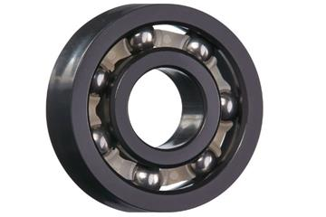 xiros® radial deep groove ball bearing, xirodur F180, stainless steel balls, cage made of PE, mm