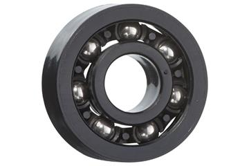 xiros® radial deep groove ball bearing, xirodur F182, stainless steel balls, cage made of PA, mm