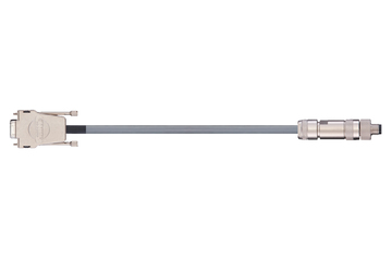 readycable® encoder cable acc. to Festo standard KDI-MC-M8-SUB-9-xxx, base cable PVC 10 x d
