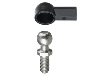 Angled ball and socket joint, WGRM LC, low cost, with steel pins, igubal®