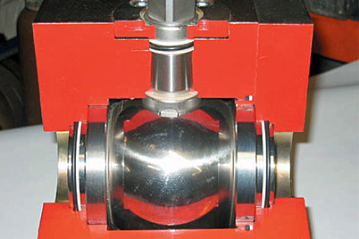 Ball valve with iglidur® X plain bearings