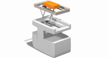 DTS with iglidur® plain bearings in the scissor lift