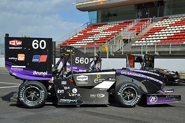 Formula Student racing car with 3D printed gears made of iglidur polymer